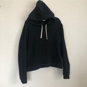 Everlane Crop Pullover Black Hoodie